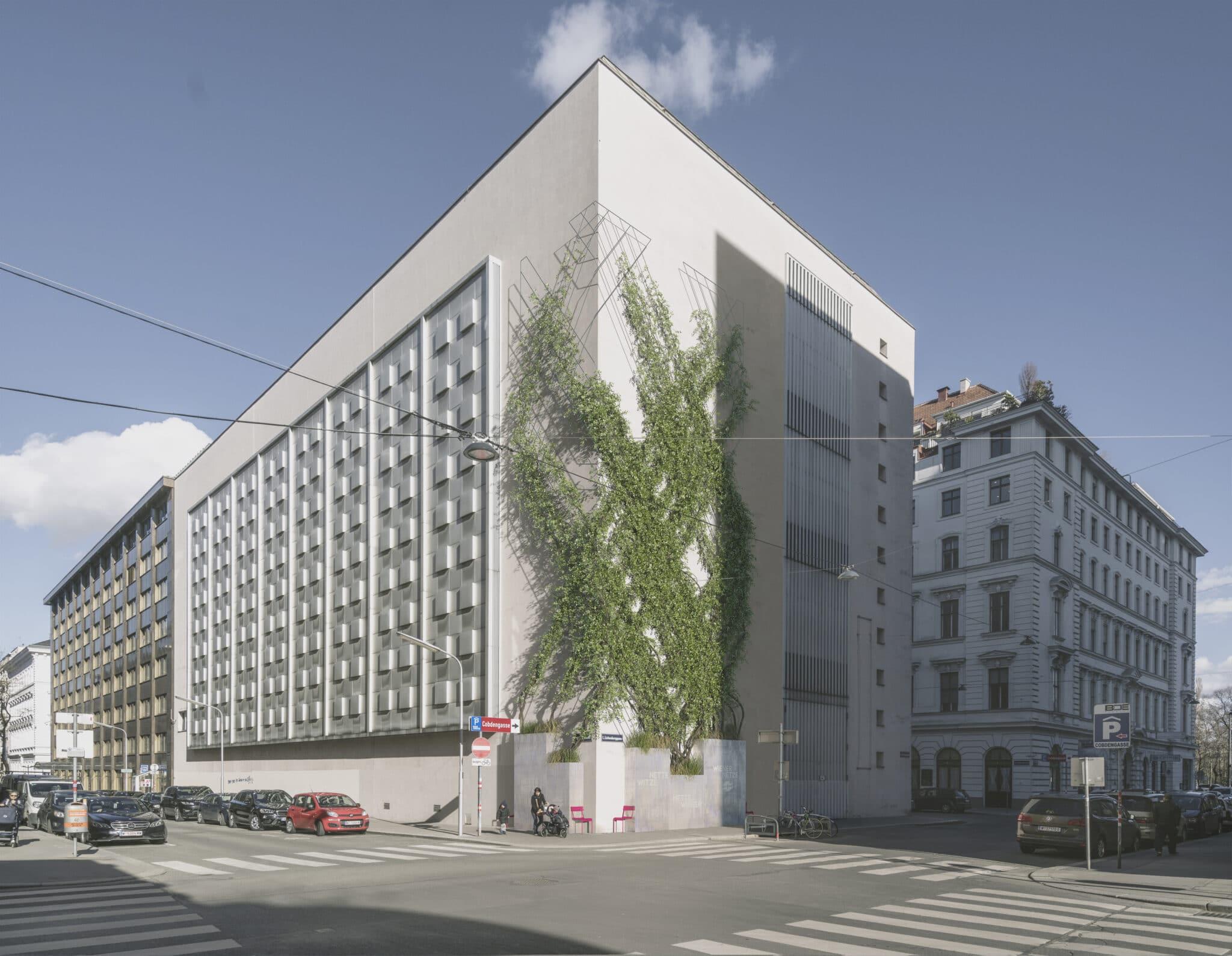 Die Zedlitzhalle ist ein facettenreiches Gebäude. Heute ist darin ein Wiener Netze Umspannwerk beherbergt.